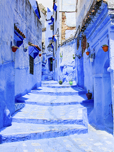 Chefchaouen Blue Streets 1 - Morocco - Wanderlusters (3x4)