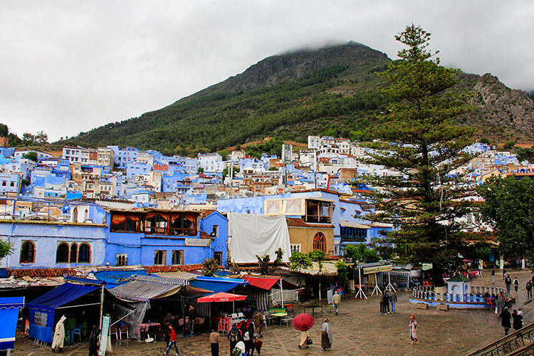 Chefchaouen Mountain Backdrop - Morocco - Wanderlusters