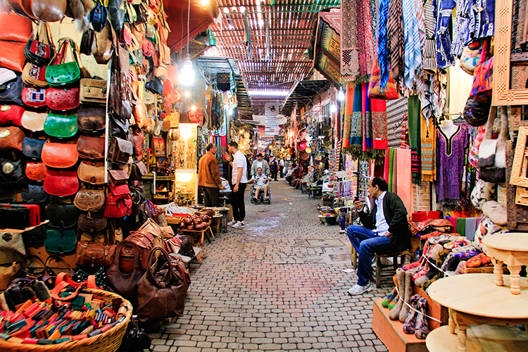 Dark Medina of Marrakesh Souks - Morocco - Wanderlusters