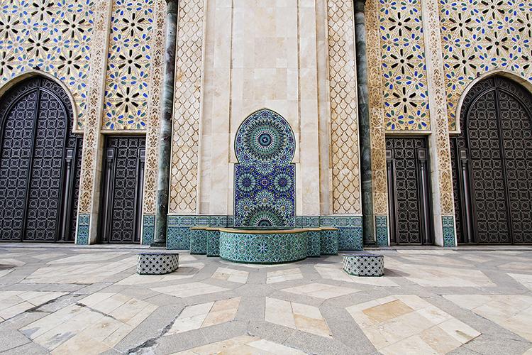 Hassan II Mosque Colors - Casablanca Morocco - Wanderlusters