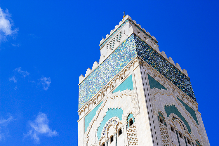 Hassan II Mosque Minaret - Casablanca Morocco - Wanderlusters