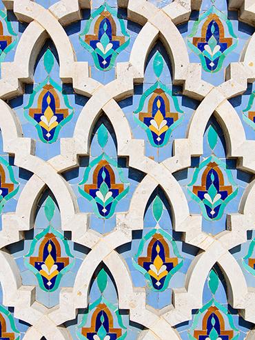 Hassan II Mosque Pattern - Casablanca Morocco - Wanderlusters
