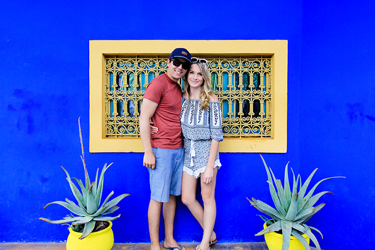 Jardin Majorelle Couple Shot - Marrakesh Morocco - Wanderlusters