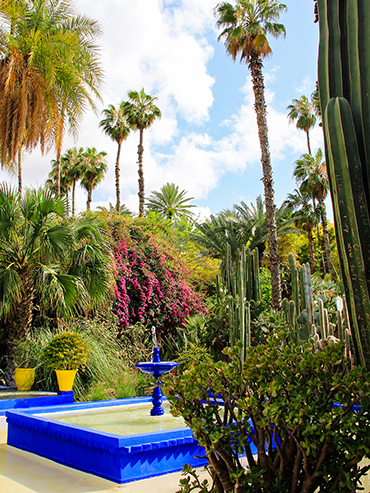 Jardin Majorelle Fountain - Marrakesh Morocco - Wanderlusters