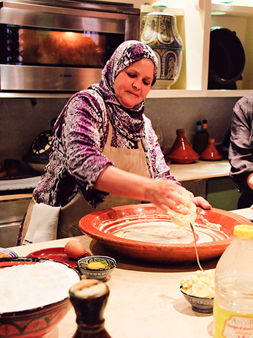 Maison Arabe Cooking Class Making Dough - Marrakesh Morocco (3x4)