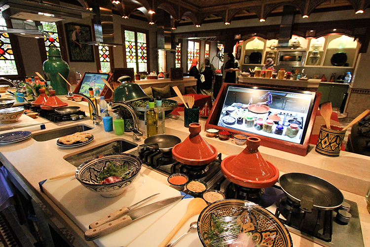 Maison Arabe Cooking Class Setup - Marrakesh Morocco - Wanderlusters
