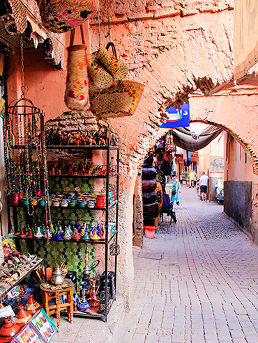 Medina Arches in Marrakesh - Morocco - Wanderlusters