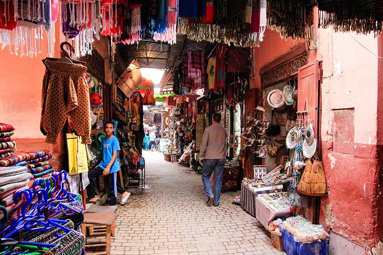 Medina Shops in Marrakesh Souks - Morocco - Wanderlusters