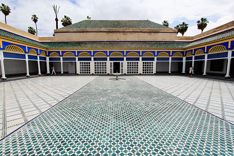 Palais Bahia Architecture - Marrakesh Morocco - Wanderlusters
