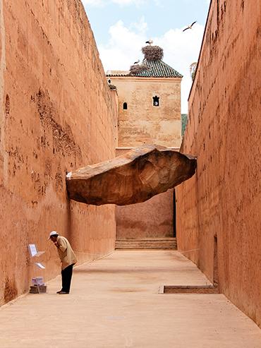 Palais El Badi Floating Stone - Marrakesh Morocco - Wanderlusters