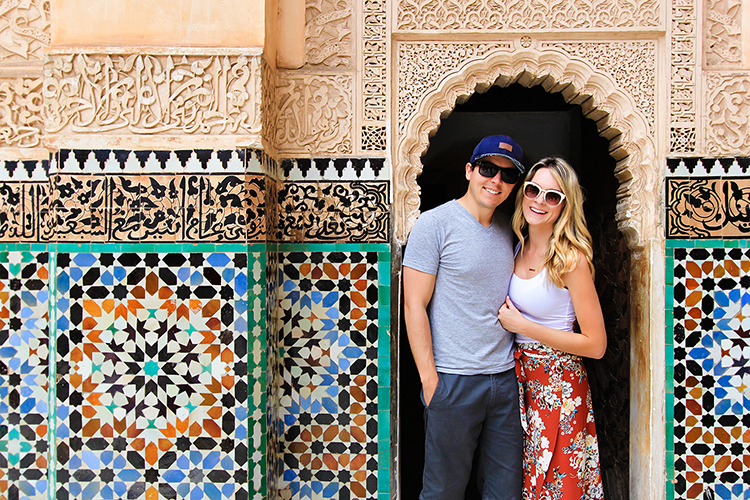 Us at Ben Youssef Madrasa - Morocco Marrakesh